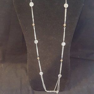 Paparazzi Silver and Brown Necklace Set